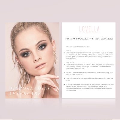Microblading Aftercare Card